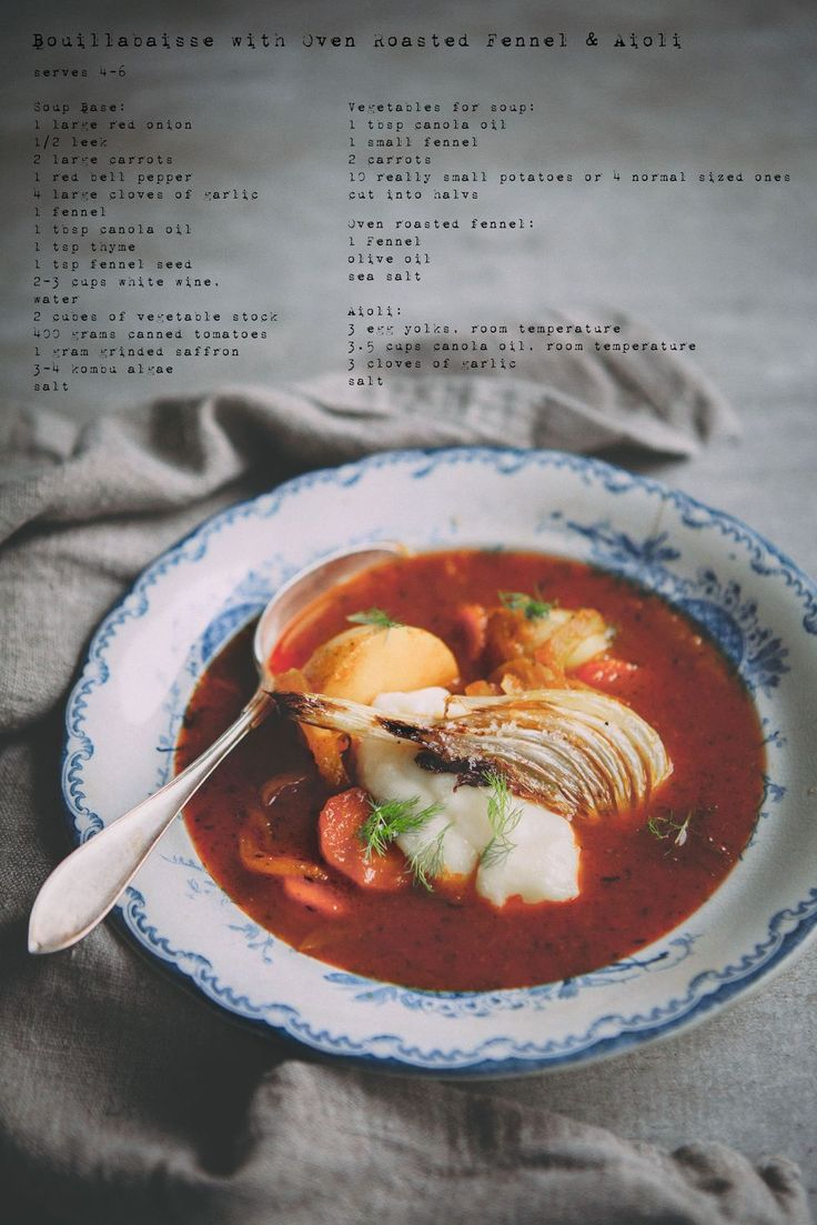 [ made by mary ] Vegetarian Bouillabaisse with Oven Roasted Fennel & Aioli