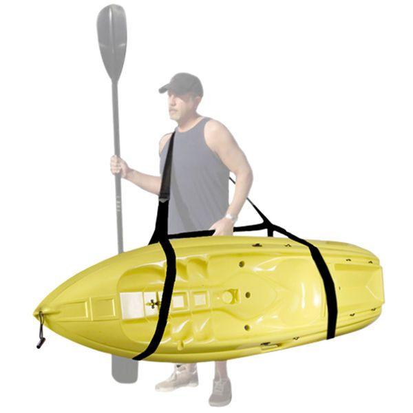Black Kayak Easy Carry Strap Shoulder Wrap Carrying Holder Boat Canoe Surf Board