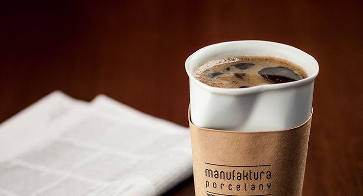 Kubek Paper Cup XXL - Manufaktura Porcelany  Looking for interesting design? Try: http://designersko.pl/