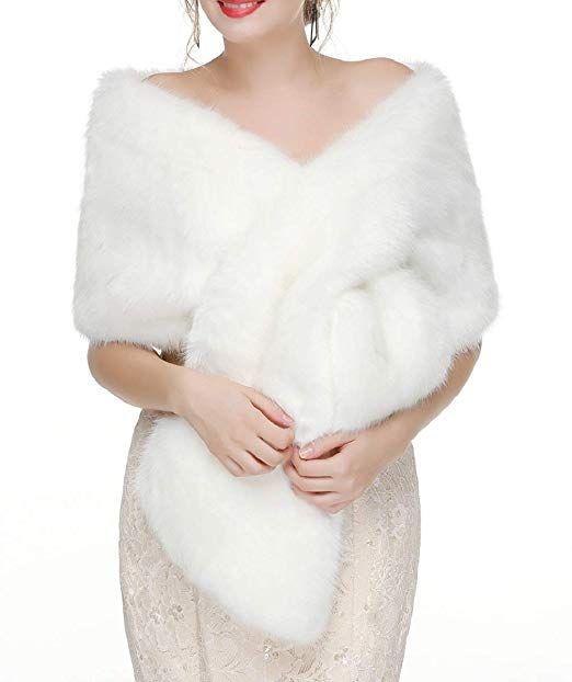 412c076b31 Decahome Faux Fur Shawl Wrap Stole Shrug Winter Bridal Wedding Cover Up # Wraps & Pashminas, #Scarves & Wraps, #Accessories, #Women, #Clothing, ...