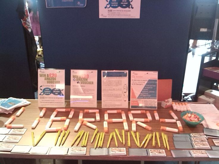 SGUL Library Stall at Freshers' Fayre 2013