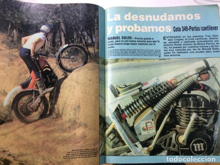 Artículo sobre Montesa Cota 349 Cantilever PORTÚS de Antonio Roma. Revista MOTO VERDE nº 28 noviembre 1980