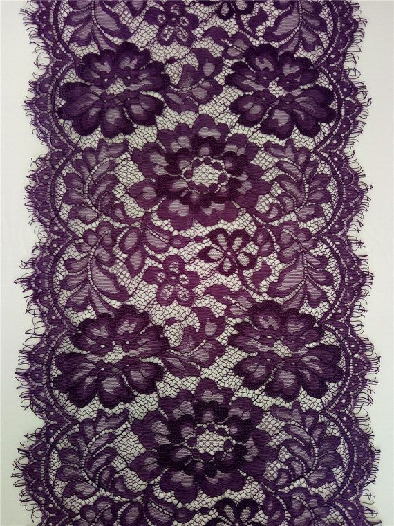 Purple Lace Table runner 10 purple table by WeddingTableRunners