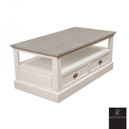 Pent og praktisk Clara sofabord med en rustikk finish. Sofabordet er innholdsrikt med skuffer fra begge sider og hylleplate til blader, tvkontroller, ol. Topplaten har en antikkgrå, men ikke fullstendig dekkende farge. Fargevariasjon vil derfor være en fremtredende del av hvert enkelt møbel.Mål:Høyde 50 cmBredde 120 cmDybde 63 cmHyllehøyde 16 cmMateriale:Paulownia tre / mdfVedlikehold:Til hvitmalte flater - Vi anbefaler bruk avOpalin Sprayvax. Produktet er en sprayvoks som e...