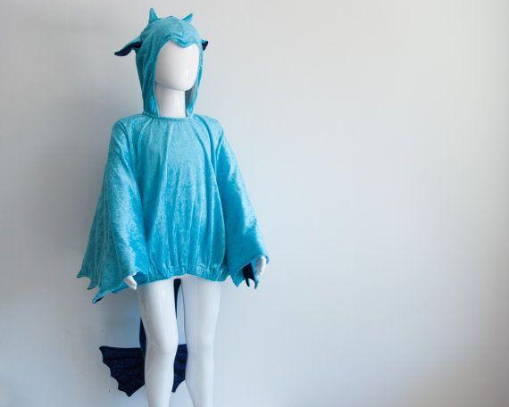 Embroma el traje del dragón dragón azul turquesa niños por oKidz