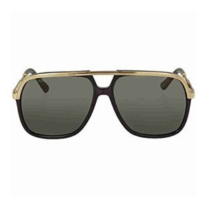 2976d012f41 Gucci GG0200S 001 Black   Gold GG0200S Square Aviator Sunglasses Lens  Category