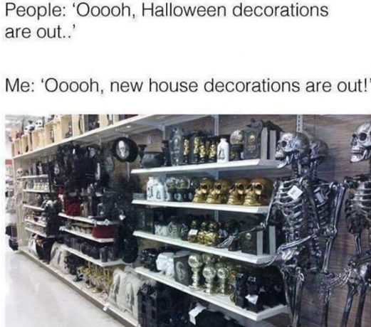 More stores should put Halloween decorations out early!  #halloweendecor #halloweendecorations