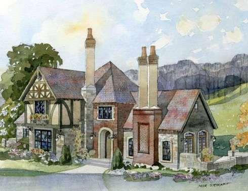 Storybook house plans home design pinterest for Storybook cottage home plans