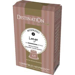 Le café bio Lungo est un assemblage d'Arabica au goût intense et riche. C'est un café idéal pour le petit déjeuner ou après un bon repas. Les amateurs aimeront ce café Lungo à la façon ristretto (court), ou plus long pour une tasse matinale. Ces capsules de café bio Lungo pur Arabica offriront une intensité de 8/10.