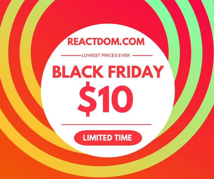 Black Friday Developer sale!  Everything $10! #blackfriday #webdev #coding #programming #fronteend #webdesign #javascript #python #php #rails #cybermonday #100daysofcode #learntocode #mobiledev #gamedev #indiedev #androiddev #iosdev #js #nodejs #jQuery #angularjs #vuejs #reactjs #100DaysOfCode #freecodecamp #wordpress #blockchain #django #MachineLearning #DataScience #BigData #ai #TensorFlow #DeepLearning #codenewbie #bots #chatbots #css #flexbox #ror https://reactdom.com/blog/black-friday