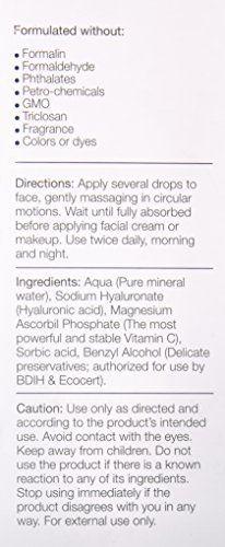 180 Cosmetics Serum a l'acide hyaluronique + vitamine C – La Meilleure gamme au monde de soins pour la peau. Hautement Concentree en acide…