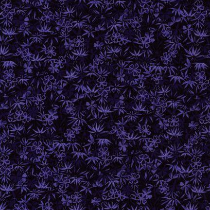 Robert Kaufman Fabrics: EV-2830-7 NAVY from Oriental Traditions Original Collection