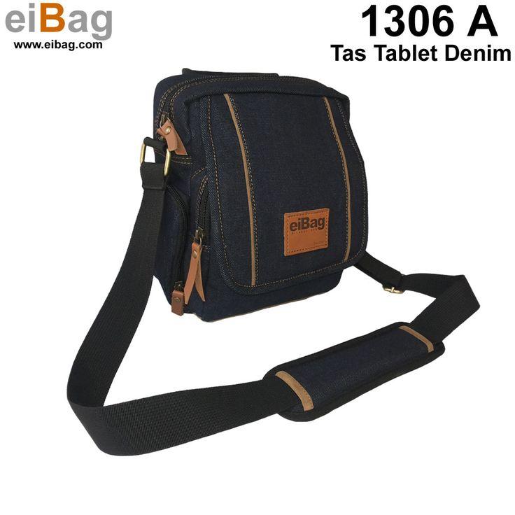 #tasdenim #tastablet Tas denim Bandung yang bisa membawa tablet 8 inch, buku kecil, dan barang lainnya, model selempang. Pada paket penjualannya sudah termasuk free cover bag.