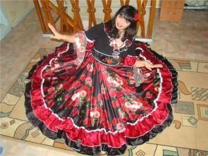 Цыганская юбка как сшить