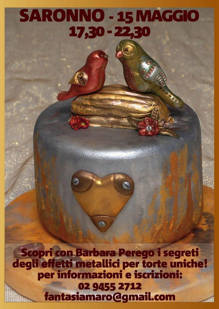 Colori metallici ed effetti steampunk per un laboratorio di cake design unico... vi aspetto!