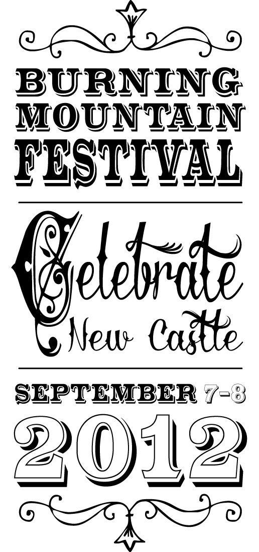 Burning Mountain Festival logo by Elyse Hutchinson Design