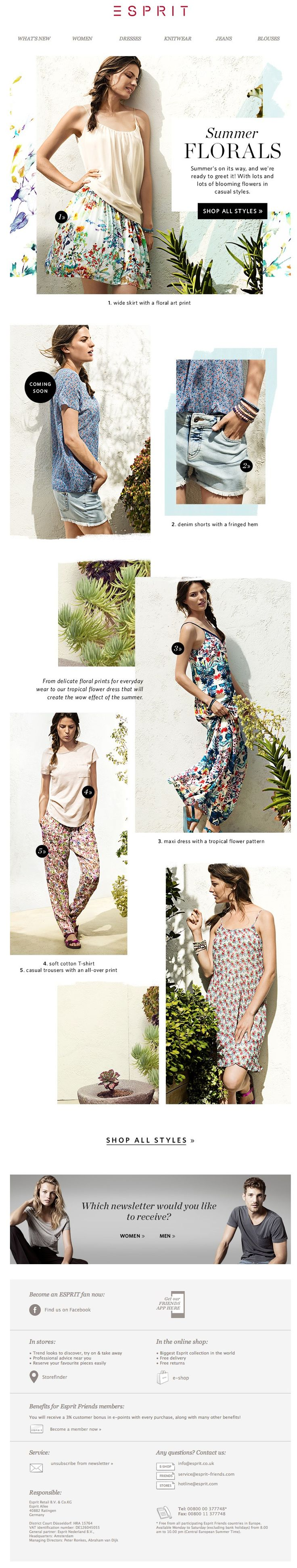 summer 14 floral pattern with lifestyle photos