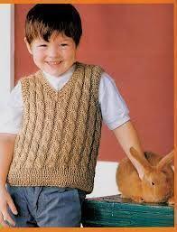 Resultado de imagen para chalecos tejidos para niños a dos agujas