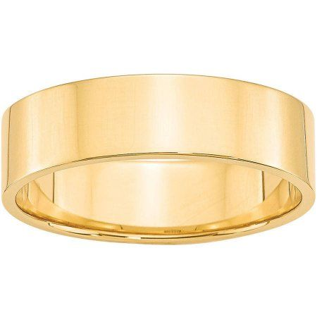 Jewelry Best Seller 14KY 7mm LTW Half Round Band Size 10