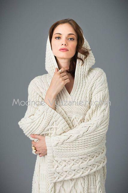 Новая модель кардигана спицами от Deborah Newton - Modnoe Vyazanie ru.com