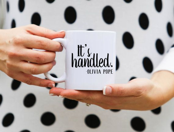 If you love Scandal, you're going to love this mug! It's handled!
