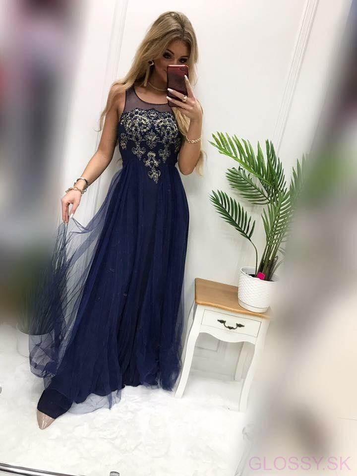 5d409491dcb2 Dlhé šaty s kamienkami sú ideálne na svadbu