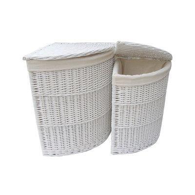 White Wicker Laundry Basket - Google Search