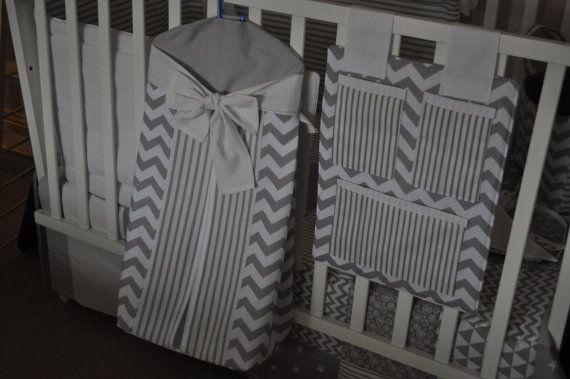 Baby Bedding Grey Cot Bedding Grey Nursery by PrettyPatchworkPiece