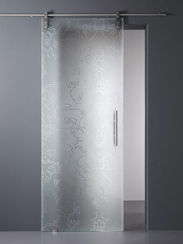 Decorated satin glass MADRAS® BAROCCO MATE' - Vitrealspecchi