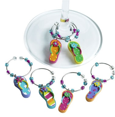 Flip Flop Wine Charms