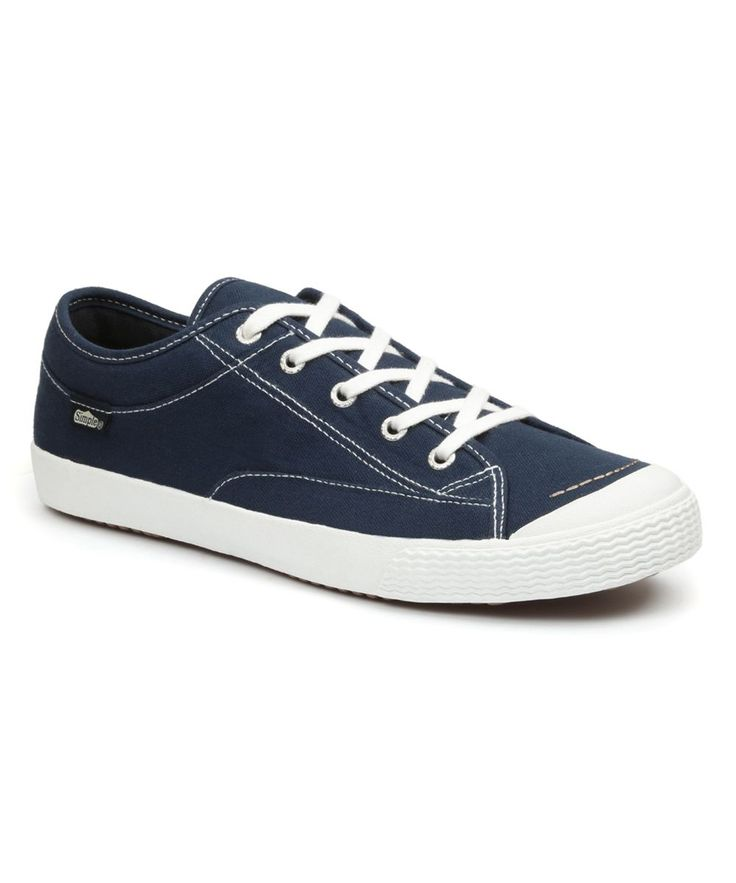 Navy Washed Wingman Canvas Sneaker