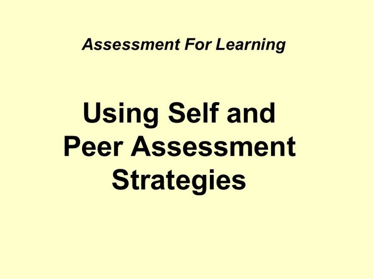 The 25+ best Peer assessment ideas on Pinterest Peer learning - different examples of formative assessment
