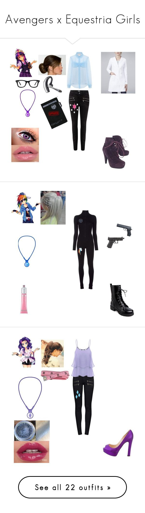 """Avengers x Equestria Girls"" by theglittergamer on Polyvore featuring Paige Denim, Ray-Ban, Christopher Kane, Proenza Schouler, Maison Margiela, My Little Pony, Beretta, Christian Louboutin, Prada and maurices"