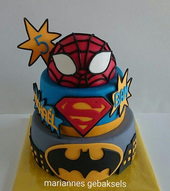 #superhelden #taart #superhero #cake #gebaksels #mariannesgebaksels #friesland | by mariannes gebaksels