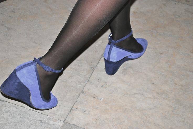 .CL.  Blue suede shoes.