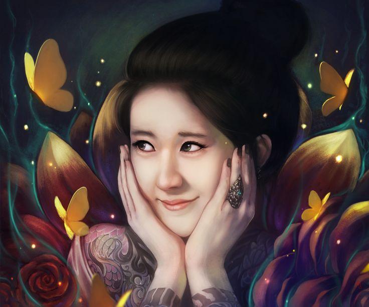 Princess of Yakuza, Rifal Jaelani on ArtStation at https://www.artstation.com/artwork/6XLA0