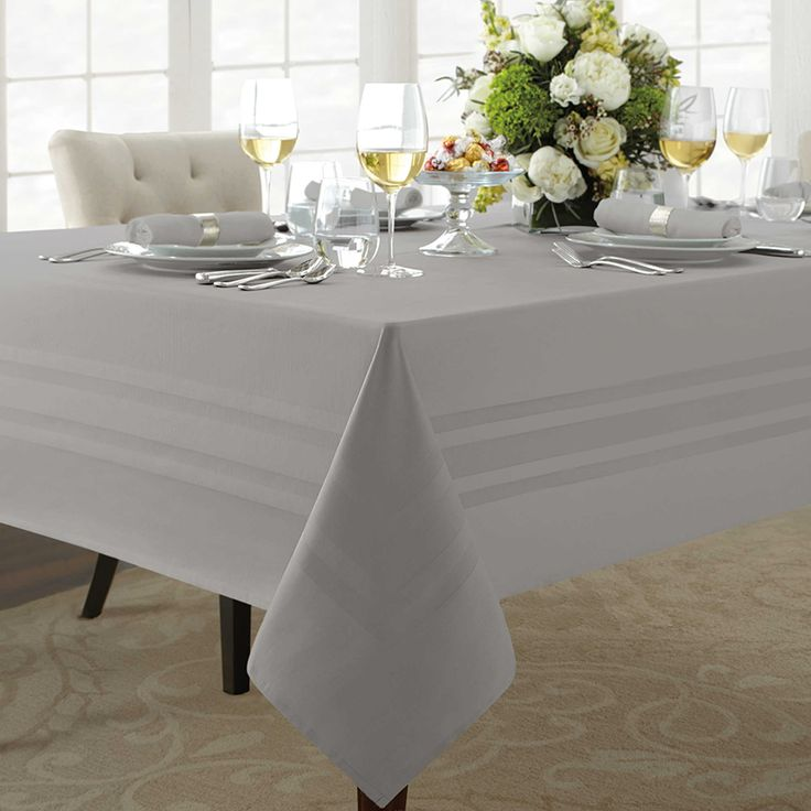 Wamsutta® Classic Tablecloth, nice tablecloth but is one that needs steaming or ironing after every wash.