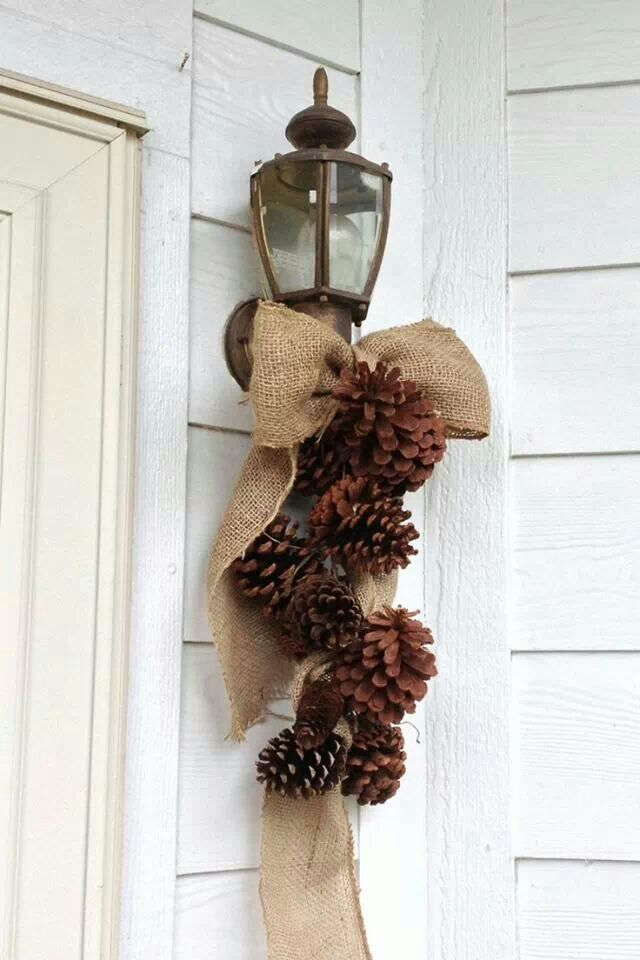 Cute - I could use the beautiful big pine cones I picked up in the hills today!
