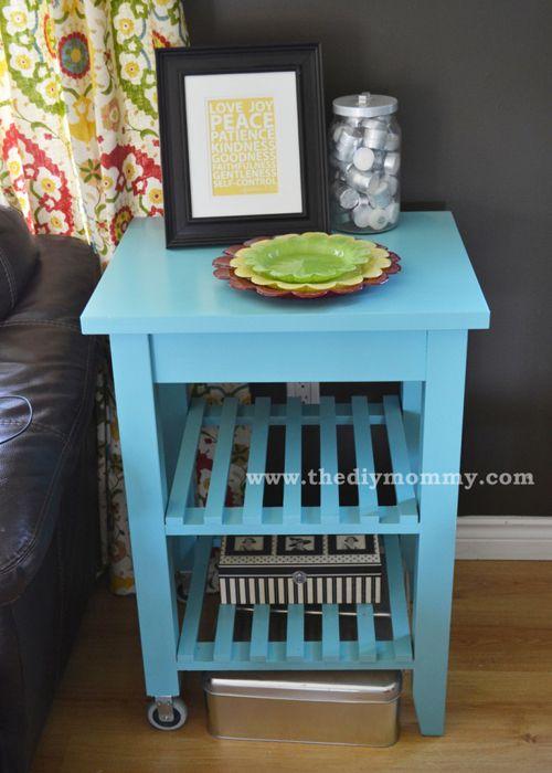 Un carrito de cocina convertido en mesa auxiliar ikea - Mesa auxiliar malm ...