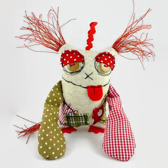 Cute Desk Accessory  Sleepy Monster  Office Gifts  by MiaPuPe