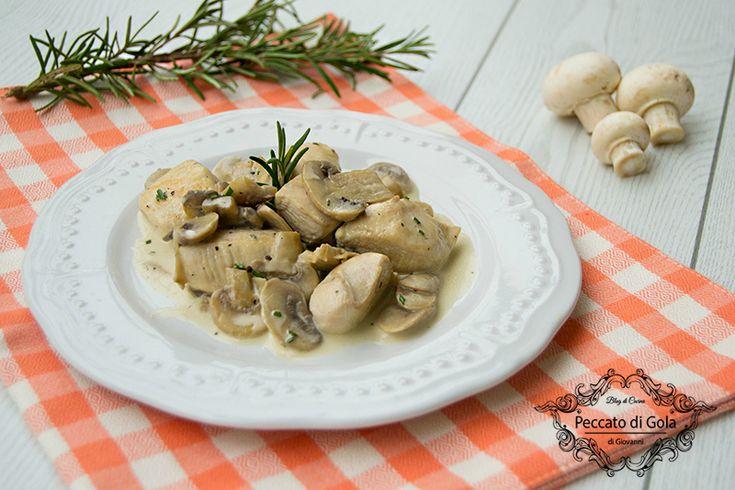 Pollo+con+funghi+e+panna