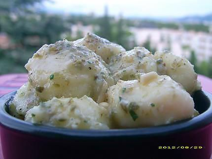 Recette de Pommes de terre fondantes à la choupette, version froide (tapas)