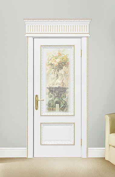 Межкомнатная дверь «Капри». Отделка «нежно-белая эмаль» #дверирулес #двери…