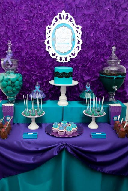 Little Big Company | The Blog: Purple and Teal 30th Birthday by A Touch of Style Events.