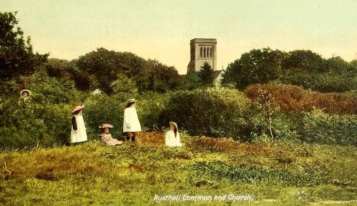 Kids at play on Rusthall Common c1905.