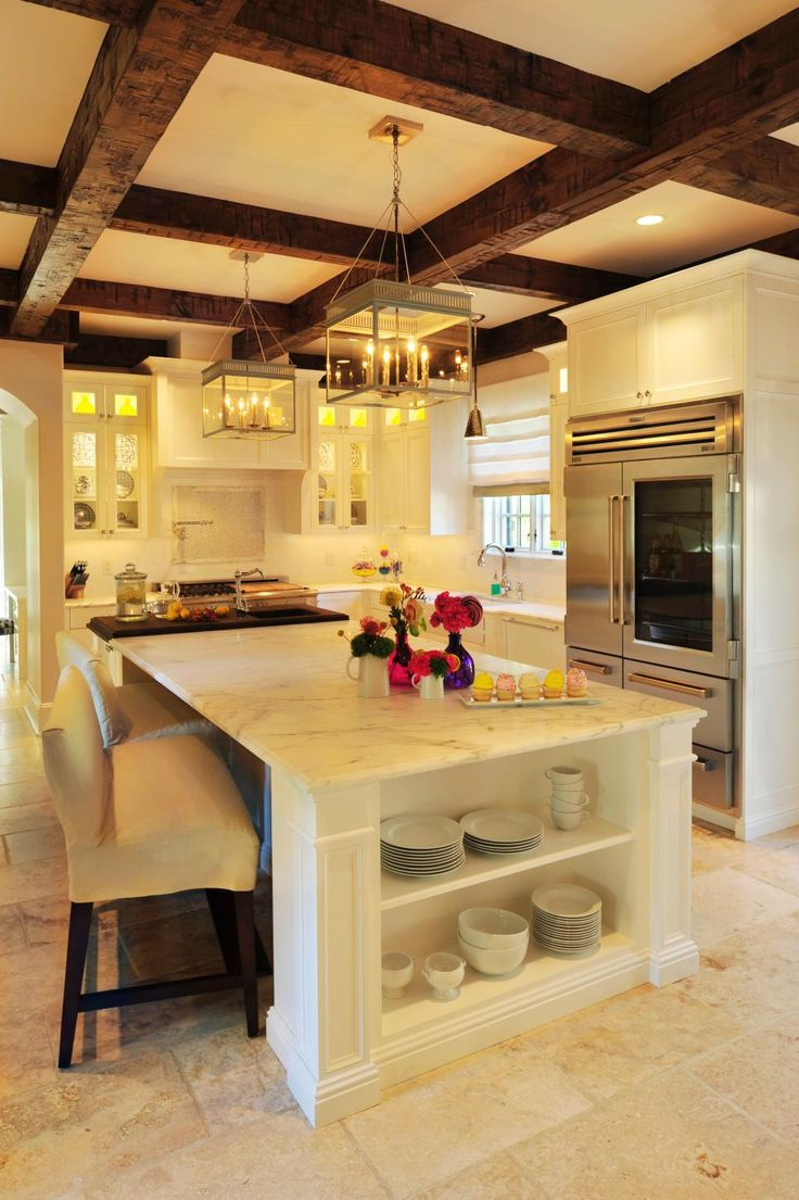 best 25 mediterranean ceiling lighting ideas on pinterest love the wood beam ceiling open kitchen amazing counter space huge island with spacious seating i want my kitchen to have dark brown cherry cabinets so