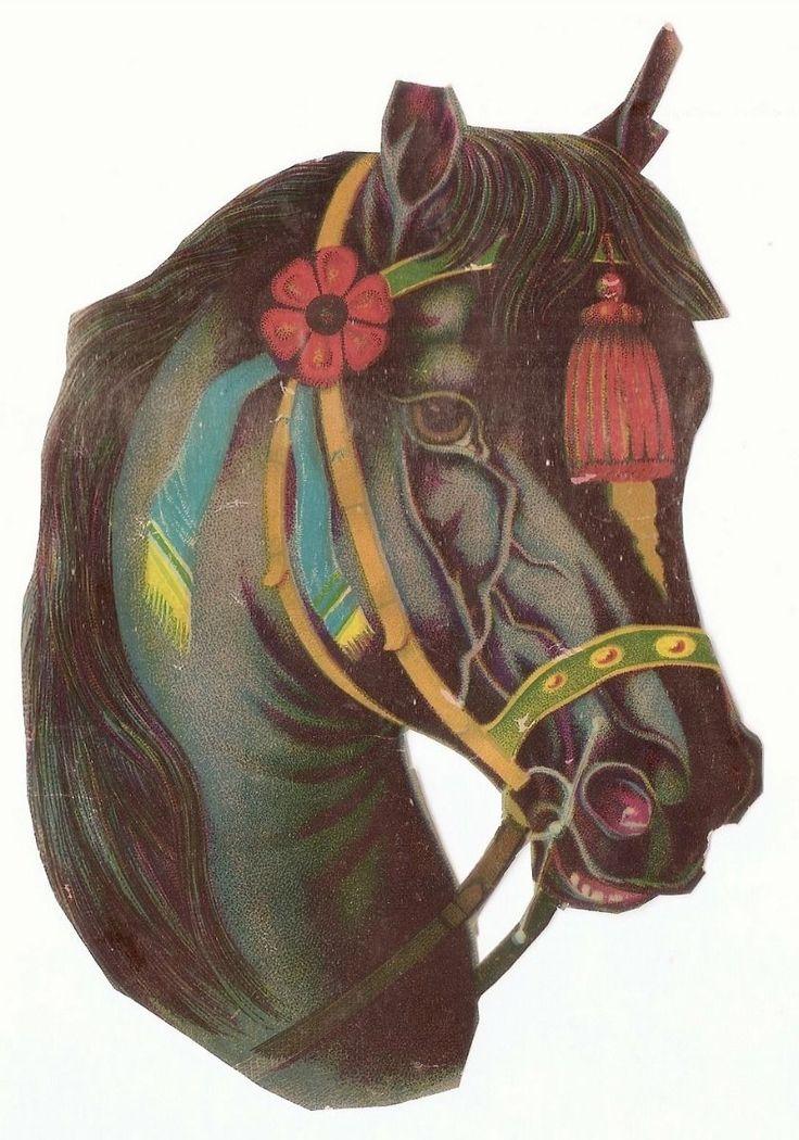 La Tête de cheval - - Animal  - - Chromolithographie sur Papier fr.picclick.com