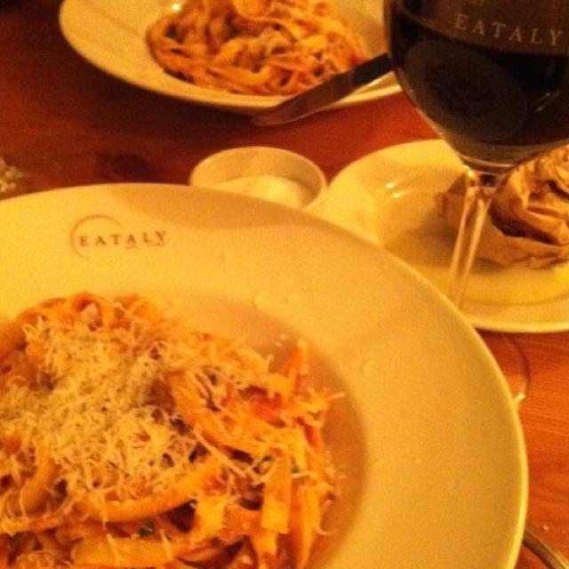 Delicious pasta at eataly