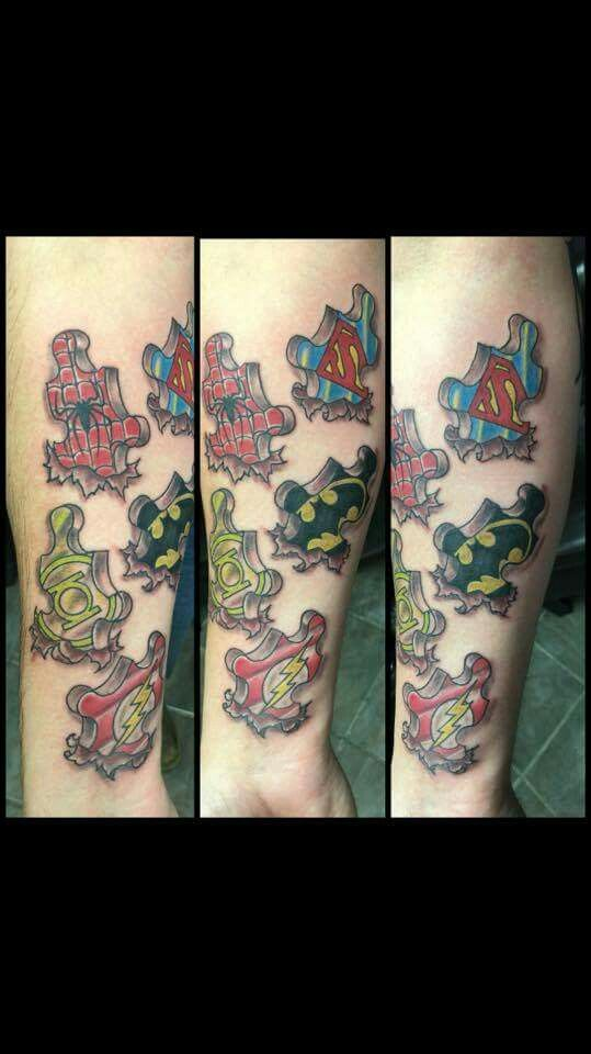 Superhero puzzle piece tattoo!