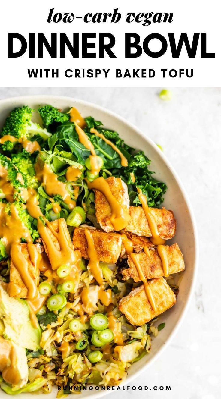 Low Carb Vegan Bowl Recipe In 2020 Vegan Dinners Low Carb Vegan Vegetarian Recipes